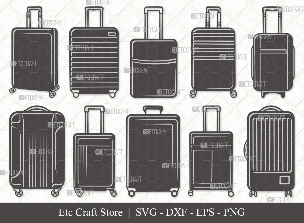 Luggage Silhouette SVG Cut File | Suitcase SVG