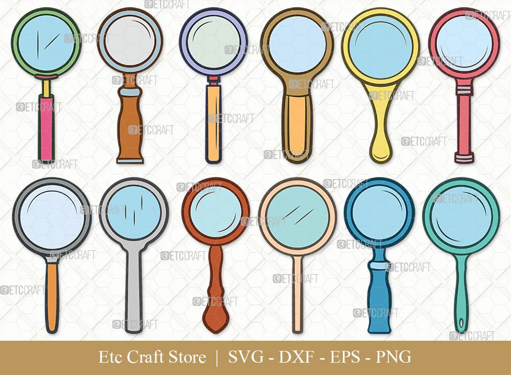 Magnifying Glass Clipart SVG | Spy Glass SVG