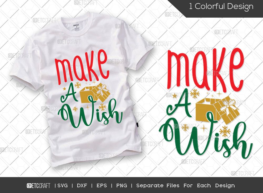 Make A Wish SVG Cut File | Christmas SVG
