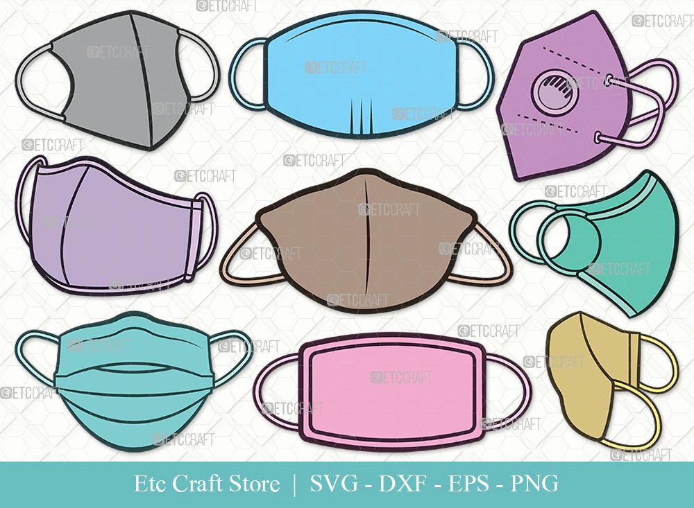 Masks Clipart SVG Cut File | Medical Mask SVG