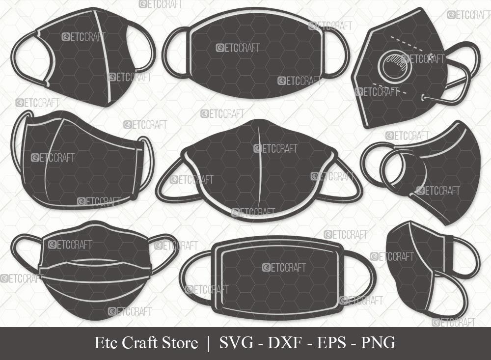 Masks Silhouette SVG | Mask SVG Bundle