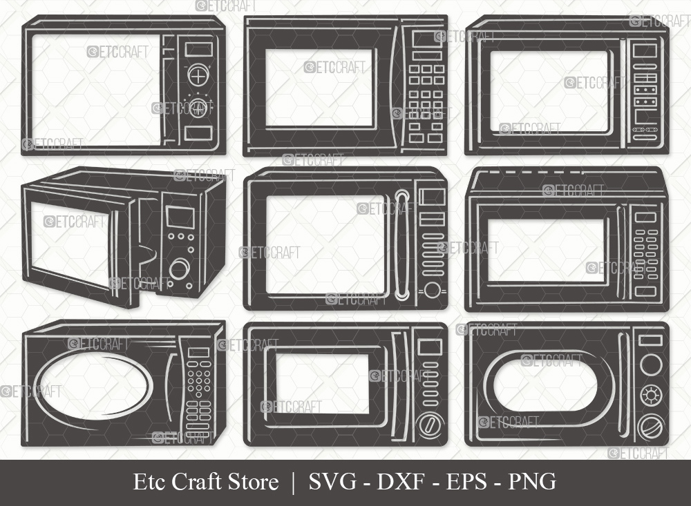 Microwave Silhouette   Microwave Oven SVG