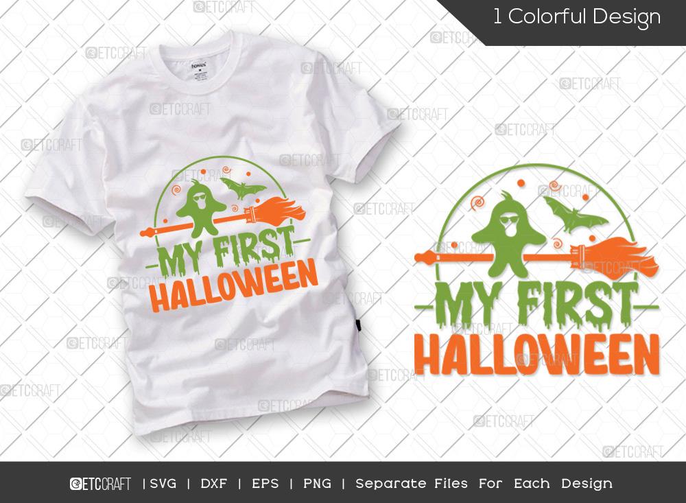 My First Halloween SVG | Baby Girl Ghost SVG