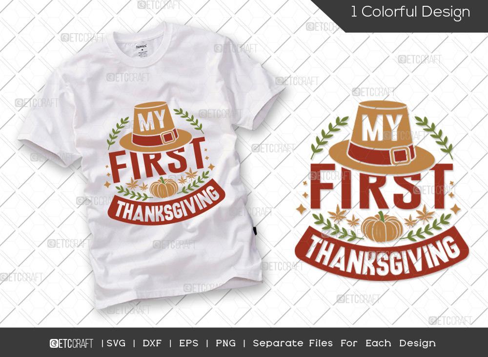 My First Thanksgiving SVG   Thanksgiving Svg