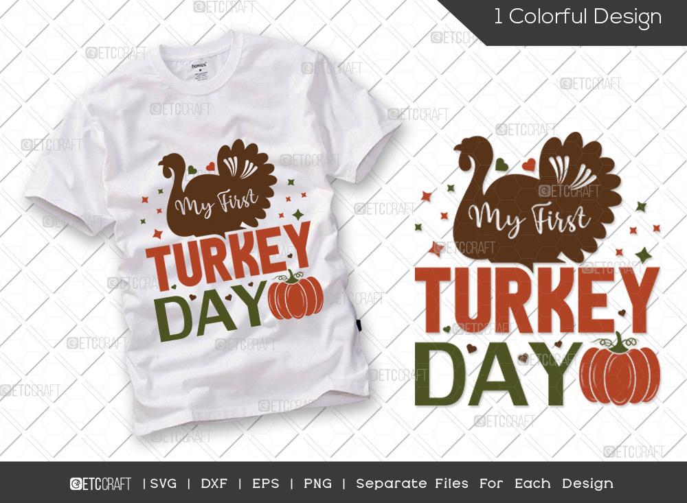 My First Turkey Day SVG | Turkey Day SVG