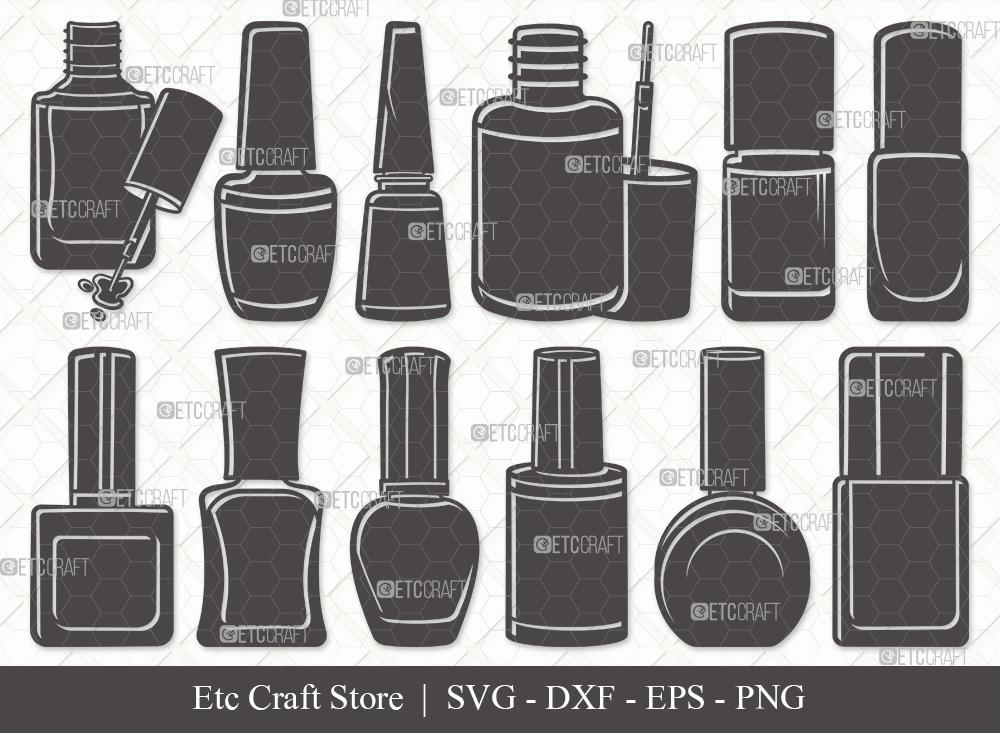 Nail Polish Silhouette SVG | Polish Bottle SVG