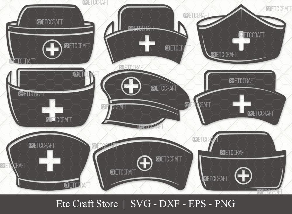 Nurse Hat Silhouette SVG | Medical Hat SVG