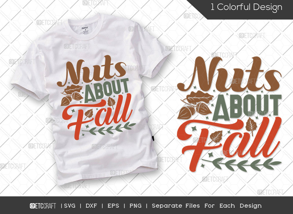 Nuts About Fall SVG Cut File | Fall SVG