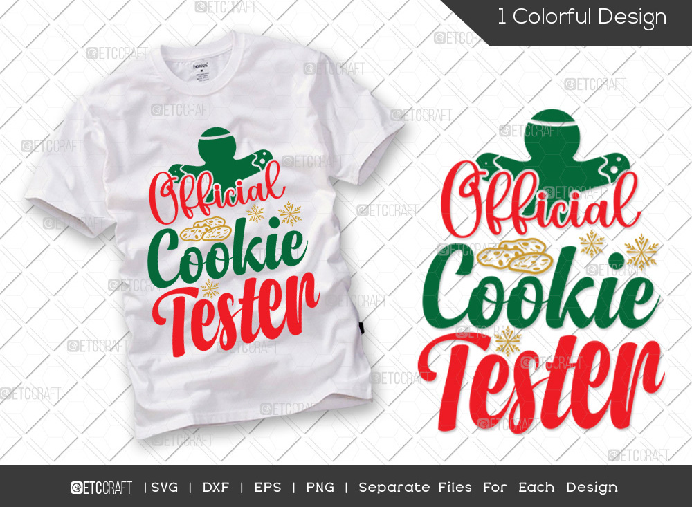 Official Cookie Tester SVG | Christmas SVG