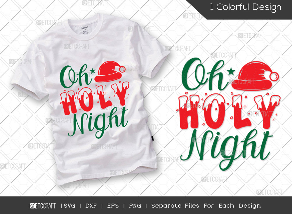 Oh Holy Night SVG | Merry Christmas SVG