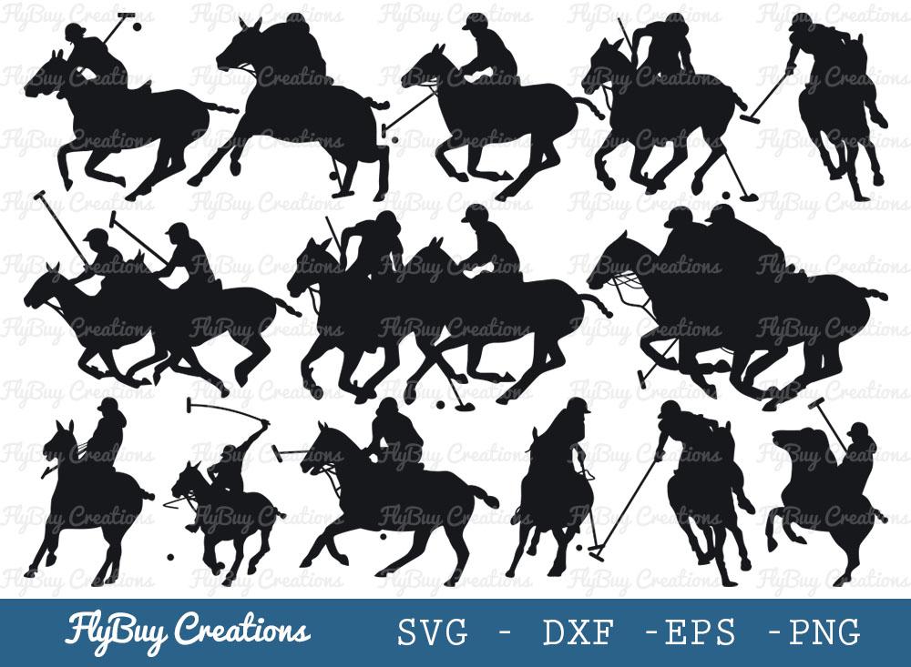 Polo Horse SVG Bundle | Riding Horse SVG