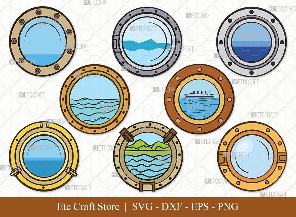 Porthole Clipart SVG Cut File | Ship Porthole SVG