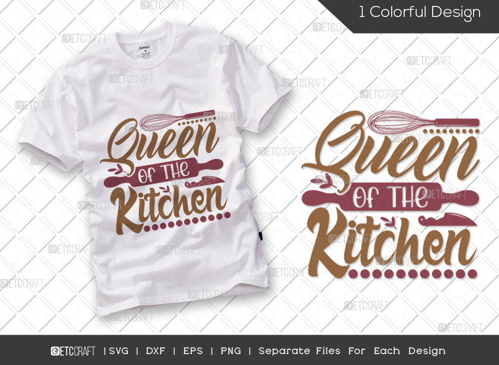 Queen Of The Kitchen SVG   Cooking SVG