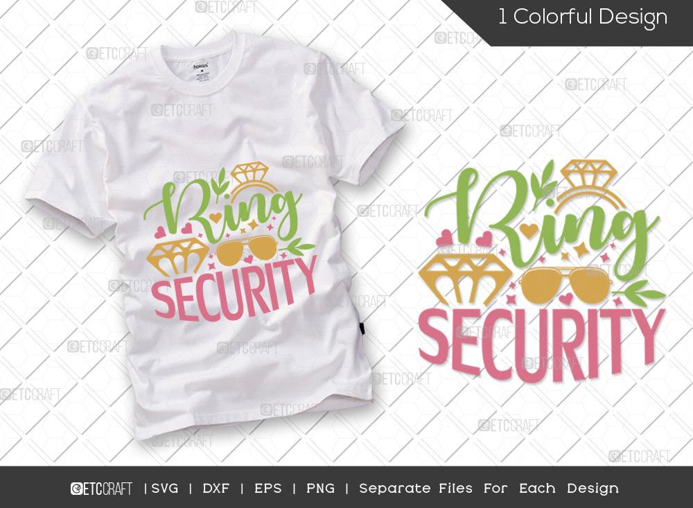 Ring Security SVG Cut File   Engagement SVG