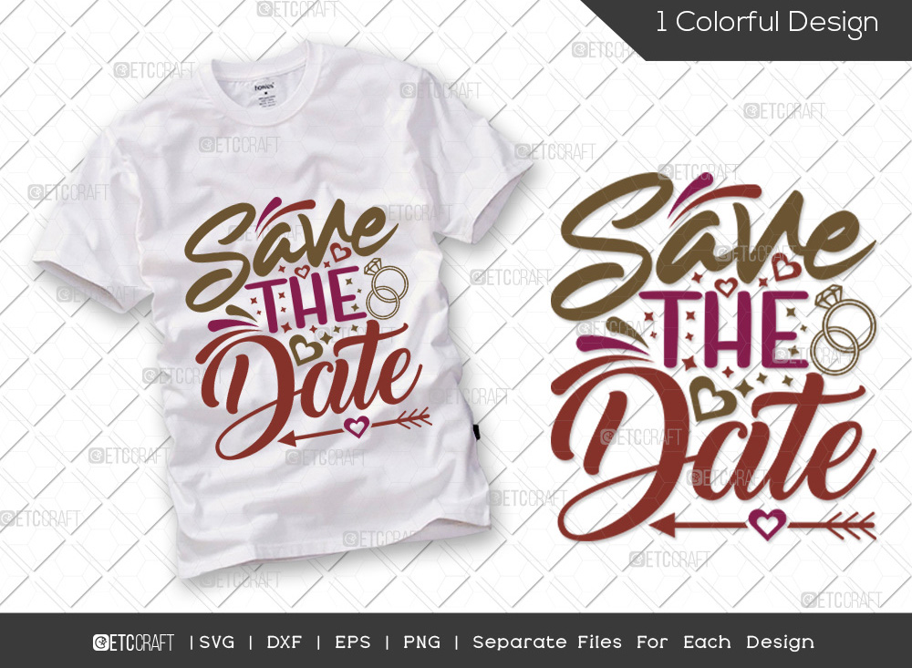 Save The Date SVG Cut File   Marriage SVG