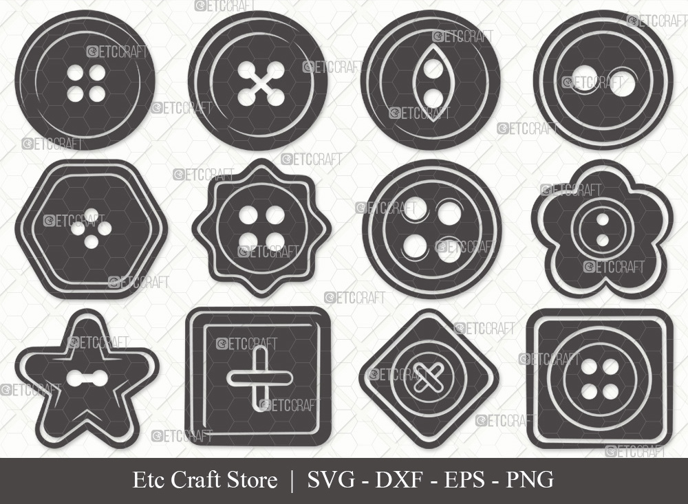 Sewing Button Silhouette SVG | Button SVG