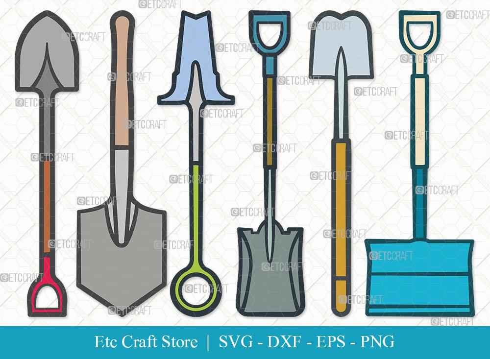 Shovel Clipart SVG Cut File | Miner Pick SVG