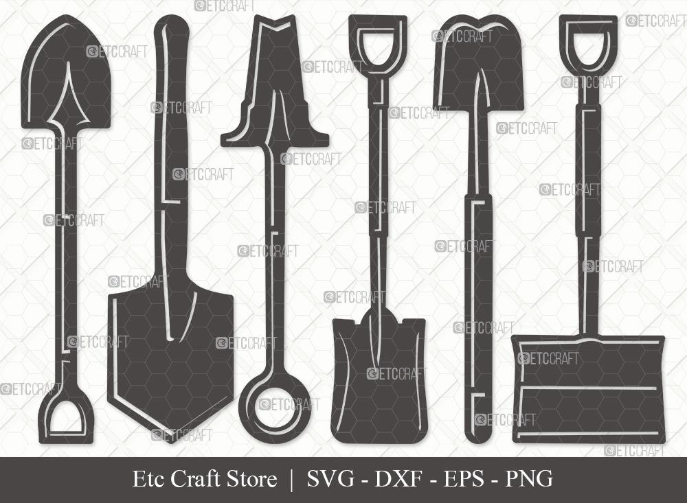 Shovel Silhouette SVG Cut File | Miner Pick SVG
