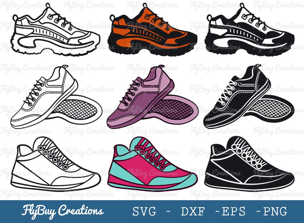 Sneakers SVG Bundle | Shoes SVG Bundle