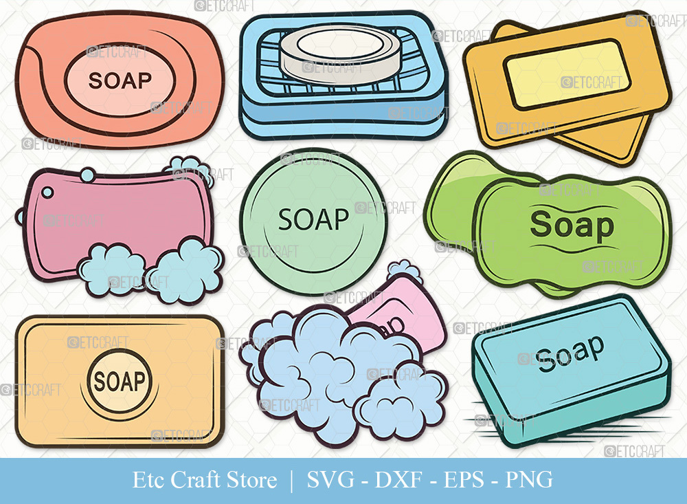 Soap Clipart SVG Cut File | Soap Bar SVG
