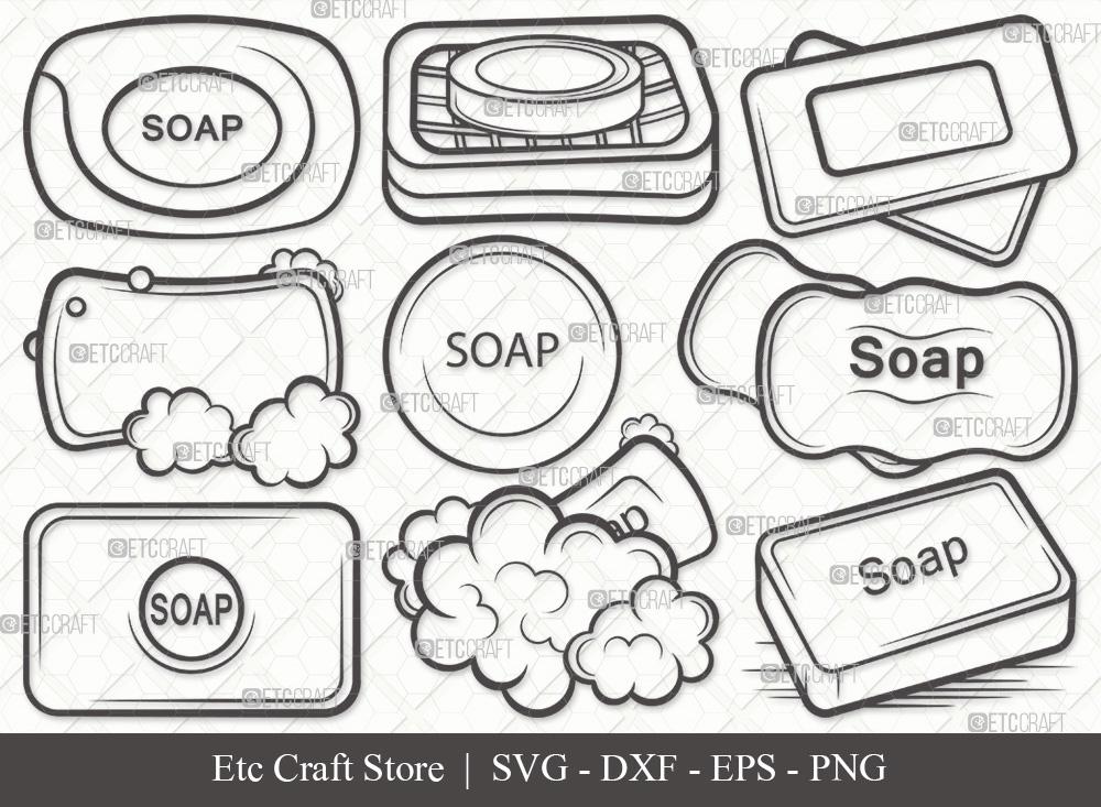 Soap Outline SVG Cut File | Soap Bar SVG