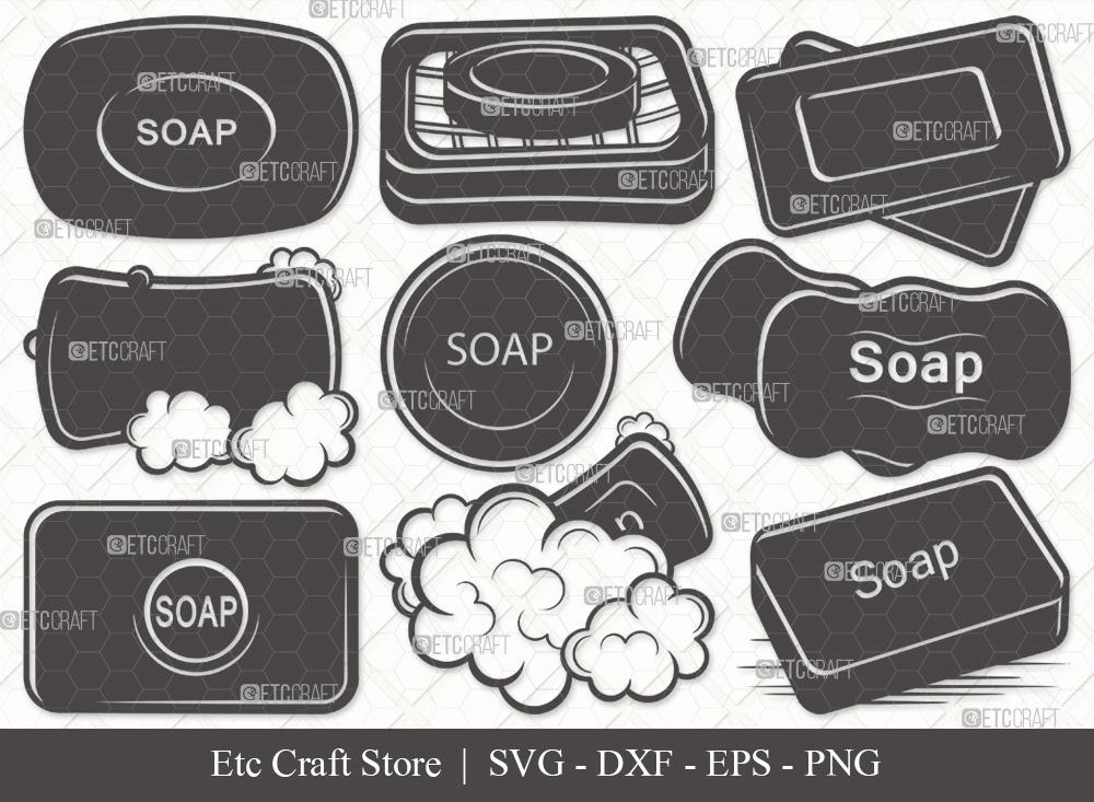 Soap Silhouette SVG Cut File | Soap Bar SVG