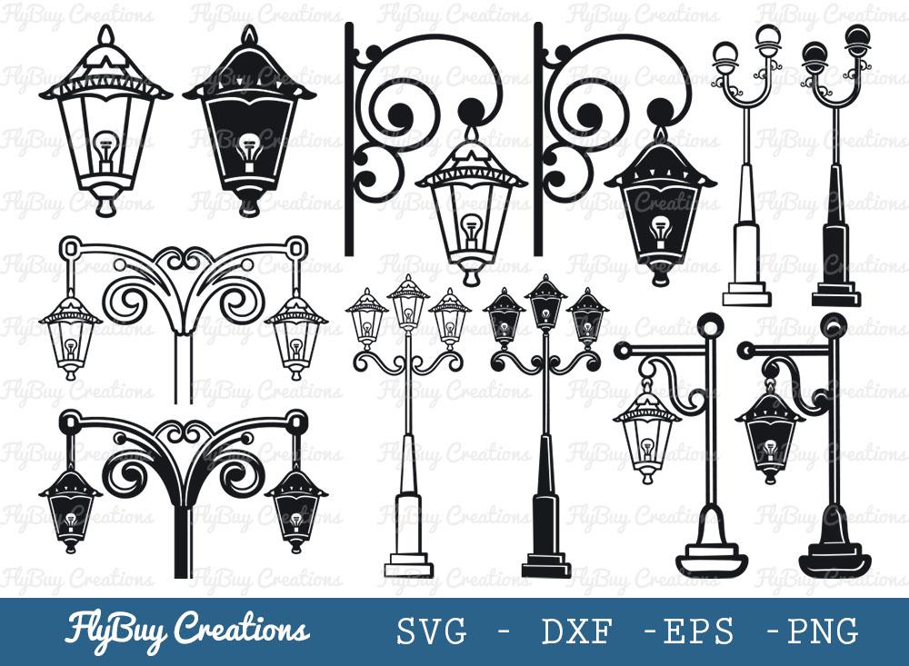 Street Lamp Bundles SVG   Light SVG
