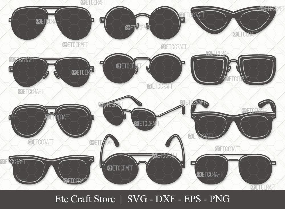Sunglass Silhouette SVG | Eyeglasses SVG