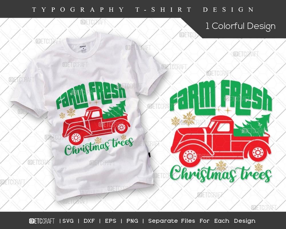 Farm Fresh Christmas Trees SVG Cut File