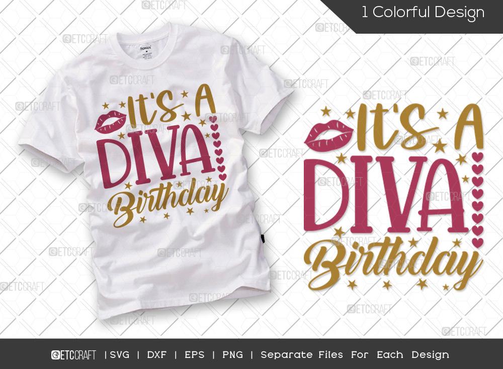 Its A Diva Birthday SVG Cut File   Birthday SVG