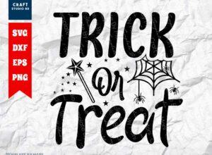 Trick Or Treat SVG Cut File   Kids Halloween SVG
