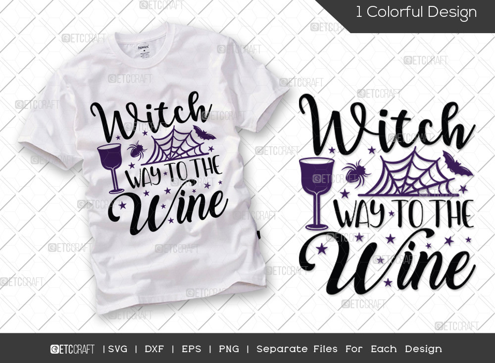 Witch Way To The Wine SVG | Halloween SVG