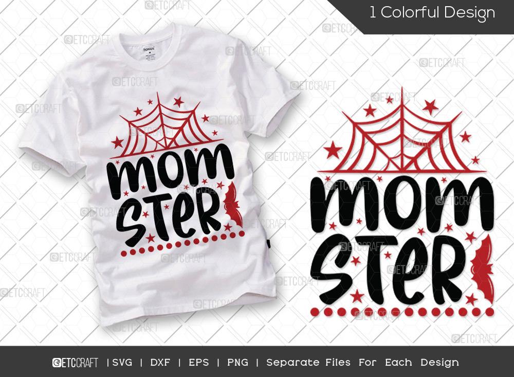 Momster SVG Cut File | Halloween Mom SVG