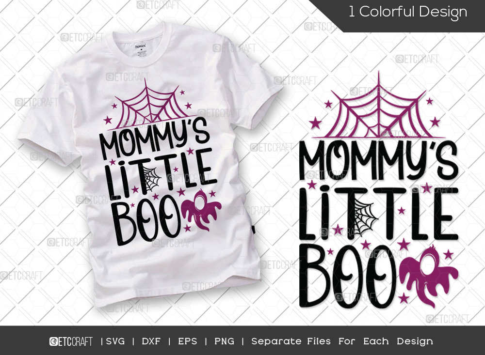 Mommys Little Boo SVG   Baby Halloween SVG
