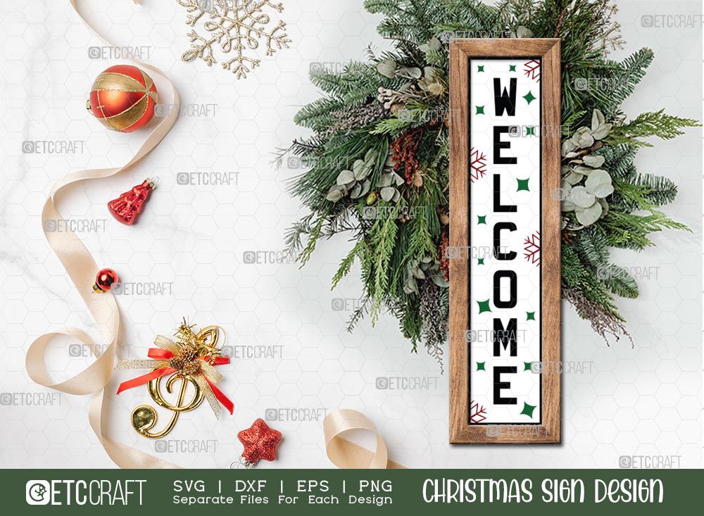 Welcome Christmas Sign SVG | Christmas SVG