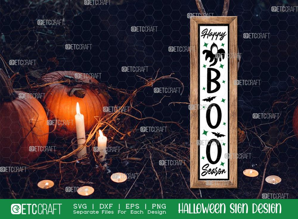 Happy Boo Season Sign SVG   Halloween SVG