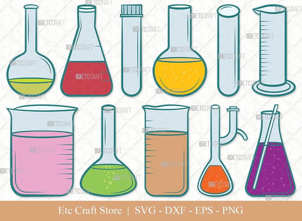 Test Tube Clipart SVG | Chemistry Tools SVG