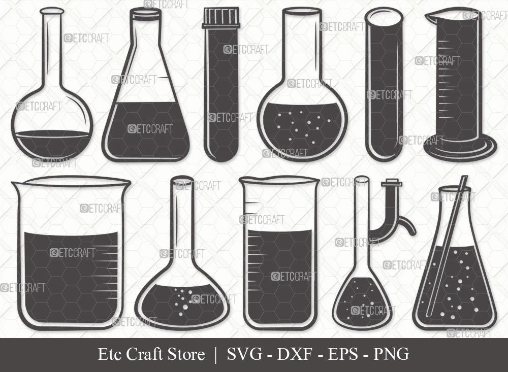 Test Tube Silhouette SVG | Chemistry Tools SVG