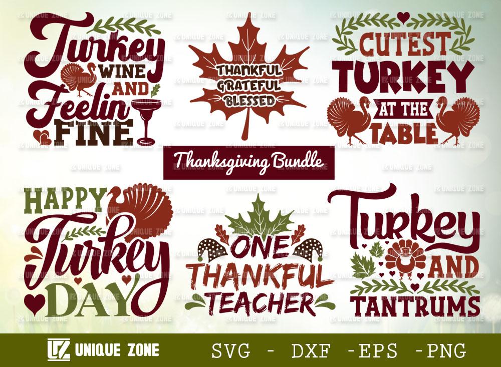 Thanksgiving Bundle SVG | Happy Turkey Day