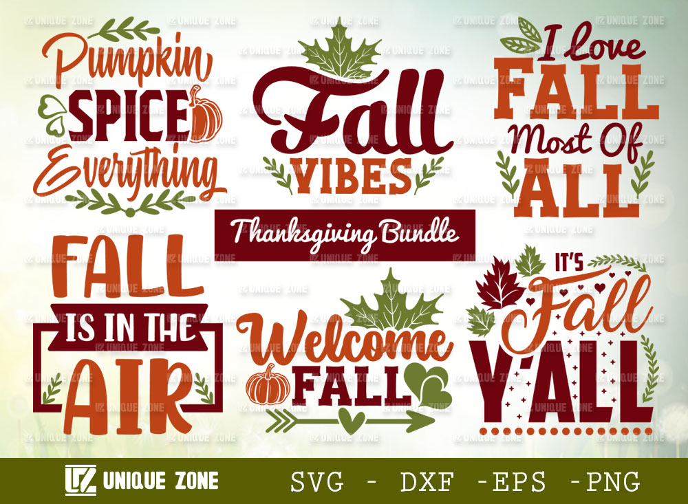 Thanksgiving Bundle SVG | Fall Vibes SVG