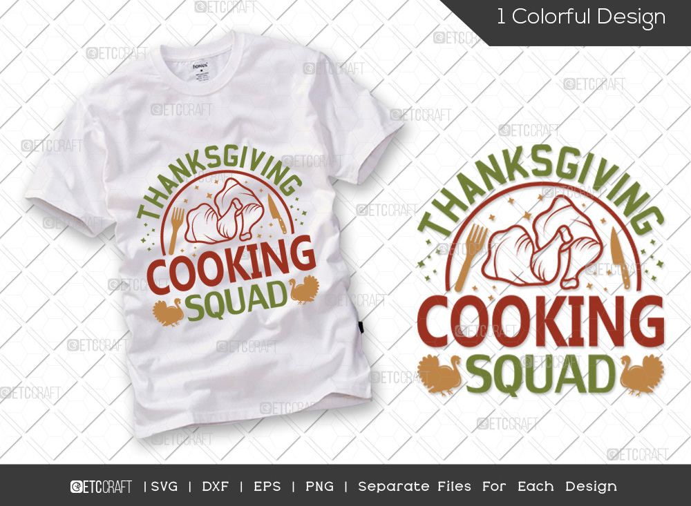 Thanksgiving Cooking Squad SVG Cut File