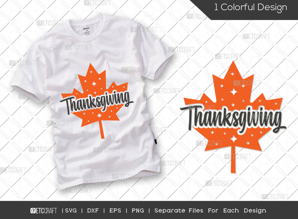 Thanksgiving SVG Cut File | Fall Leaves SVG