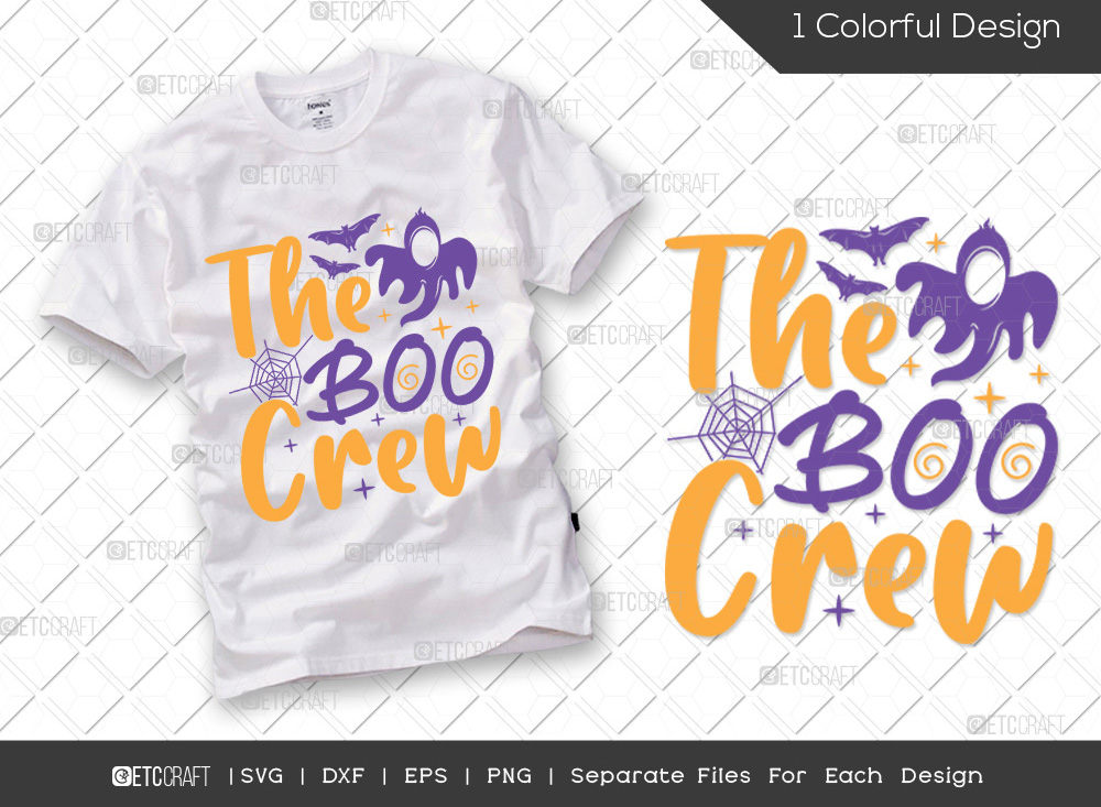 The Boo Crew SVG Cut File | Halloween SVG