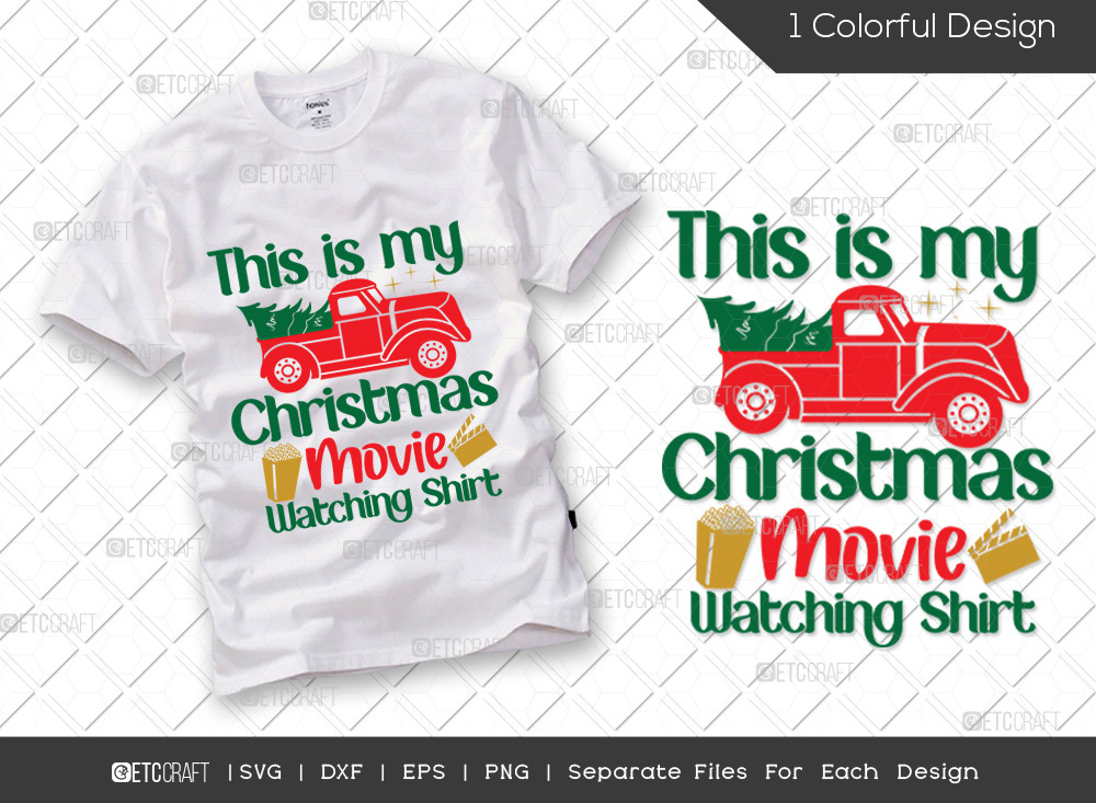 This Is My Christmas Movie Watching Shirt SVG