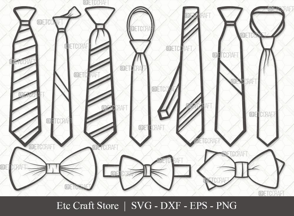 Tie Outline SVG Cut File | Tuxedo Tie SVG