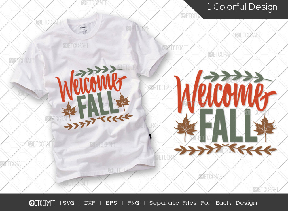 Welcome Fall SVG Cut File | Thanksgiving SVG