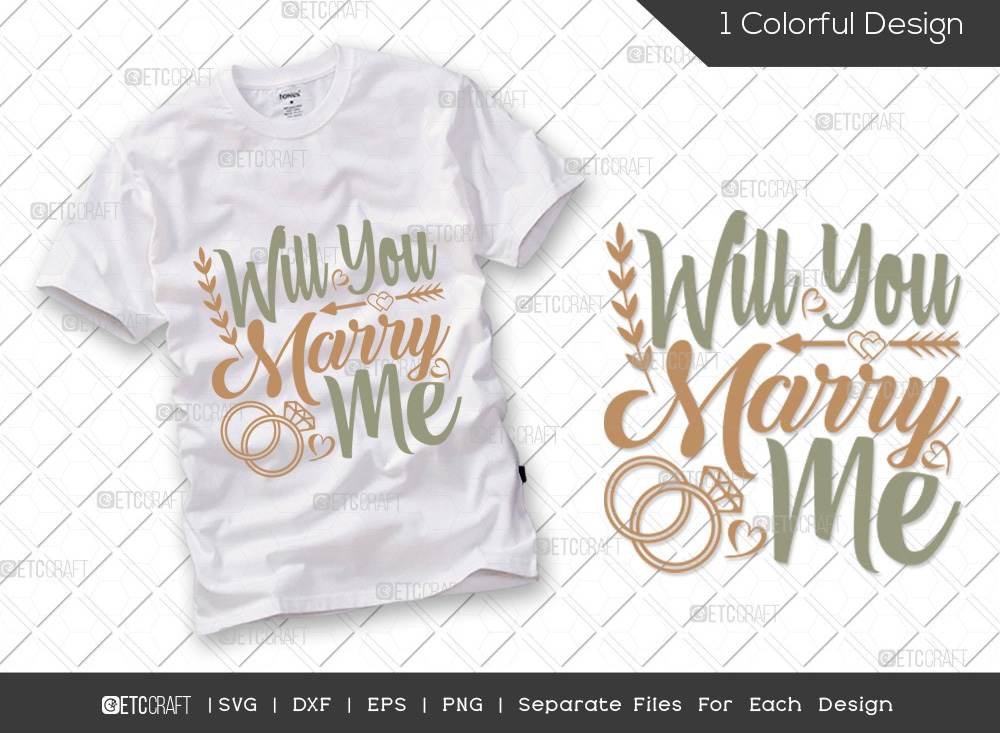 Will You Marry Me SVG   Engagement SVG
