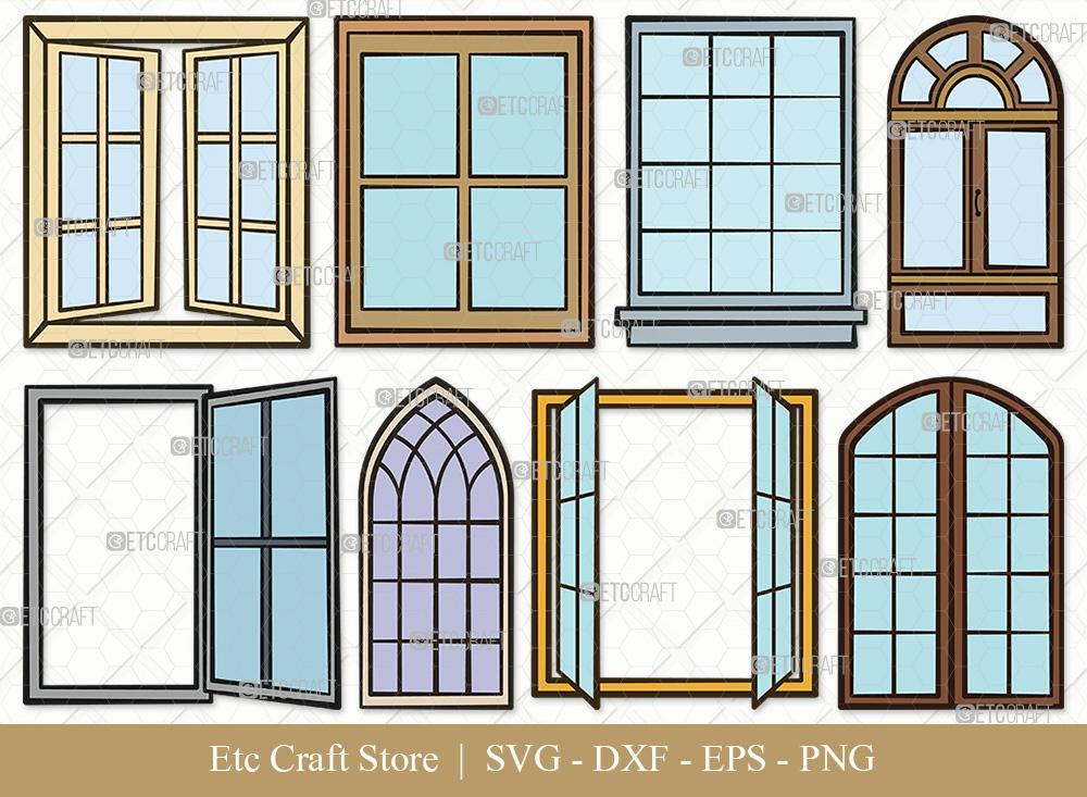 Window Clipart SVG | Windows Frame SVG