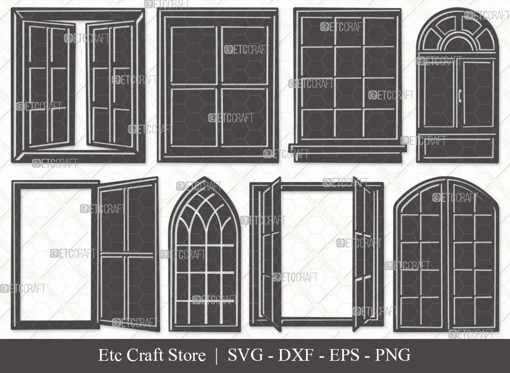 Window Silhouette SVG | Windows Frame SVG