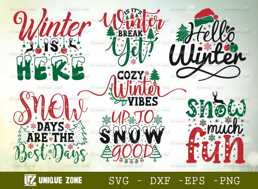 Christmas SVG Bundle V-2 | Winter Is Here